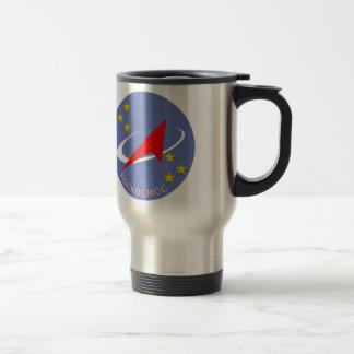 Roscosmos Flight Logo Round Travel Mug