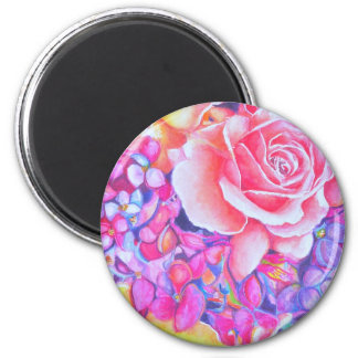 rose3 2 inch round magnet