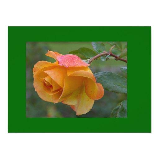 Rose3 amarillo invitación 16,5 x 22,2 cm