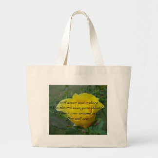 rose3, I will never cast a thornWhen thrown ove... Jumbo Tote Bag