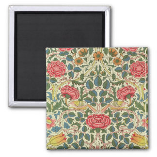 'Rose', 1883 (printed cotton) 2 Inch Square Magnet