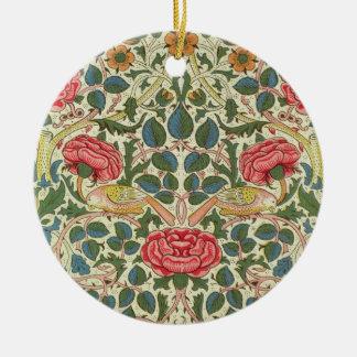 'Rose', 1883 (printed cotton) Ceramic Ornament