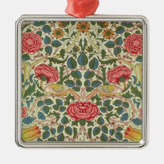 'Rose', 1883 (printed cotton) Metal Ornament