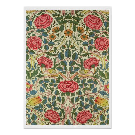 'Rose', 1883 (printed cotton) Poster