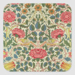 'Rose', 1883 (printed cotton) Square Sticker