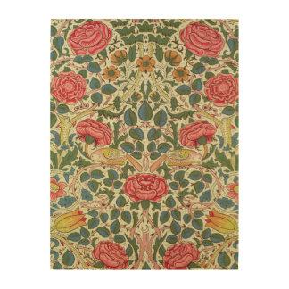 'Rose', 1883 (printed cotton) Wood Print