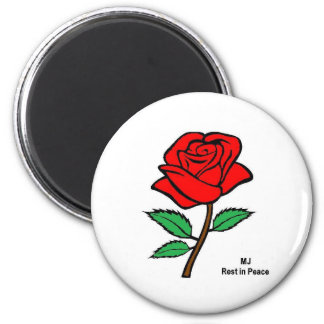 Rose 2 Inch Round Magnet