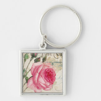 Rose (2) Square Keychain