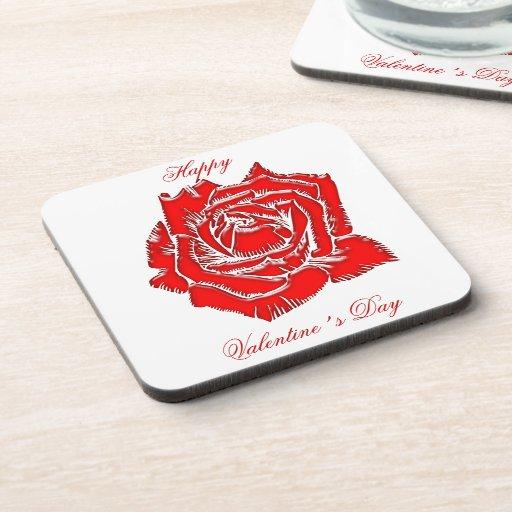 Rose #3 beverage coaster