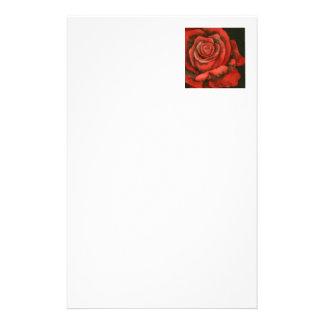 """Rose #3"" Floral Stationery"