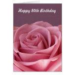 Rose 80th Birthday Greeting Card