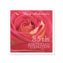 Rose 85th Birthday Celebration Paper Napkins -2-
