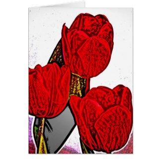 Rose 8 greeting card