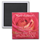 Rose 90th Birthday Celebrate Save the date magnet