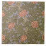 'Rose - 93' wallpaper design Large Square Tile