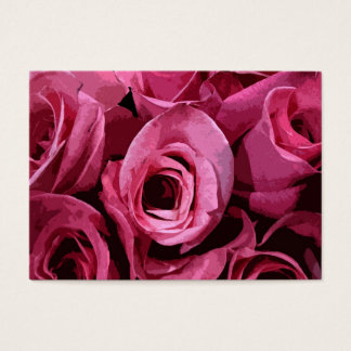 Rose Abstract ATC Business Card