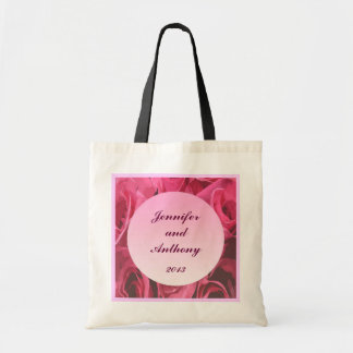 Rose Abstract Bride and Groom Tote Bag