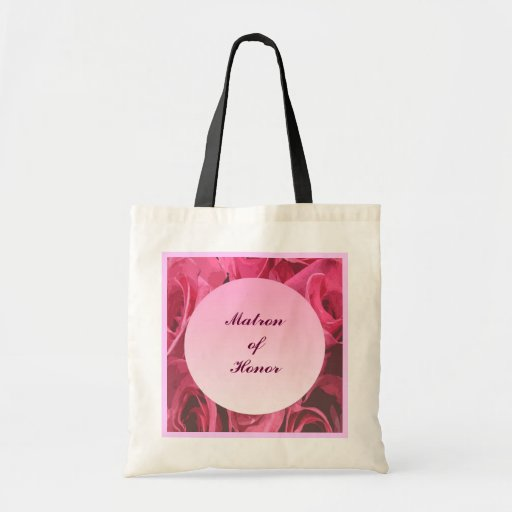 Rose Abstract Matron of Honor Canvas Bags