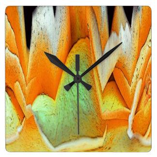 Rose Abstract Square Wall Clock