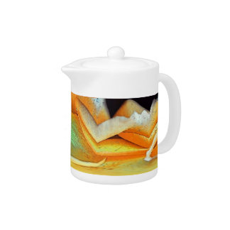 Rose Abstract Teapot