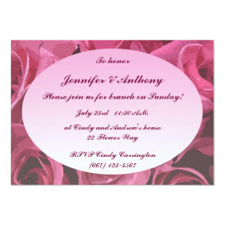Rose Abstract Wedding Brunch Card