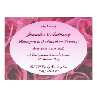 Rose Abstract Wedding Brunch 5x7 Paper Invitation Card