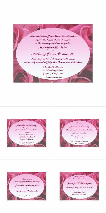 Rose Abstract Wedding Collection