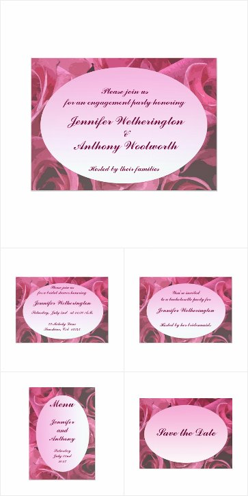 Rose Abstract Wedding Invitations