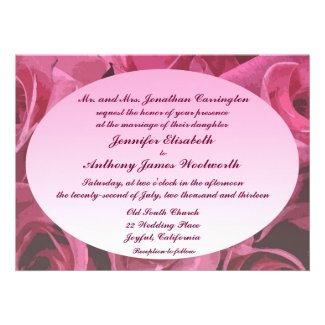 Rose Abstract Wedding Invite