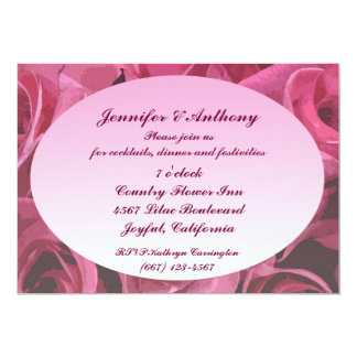 Rose Abstract Wedding Reception Card