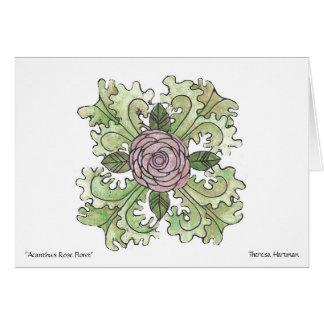"""""""Rose Acanthus Floret""""  Theresa Hartman Card"""