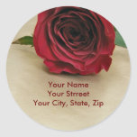 Rose Address Labels Stickers