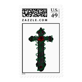 Rose Adorned Crucifix Stamps