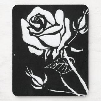 """Rose Alba"" Floral Mousepad"