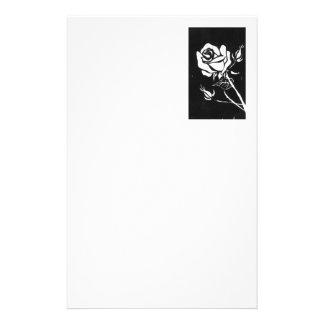 """Rose Alba"" Floral Stationery"