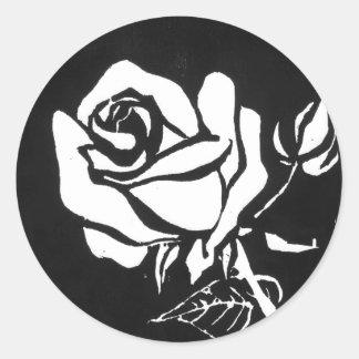 """Rose Alba"" Floral Sticker"
