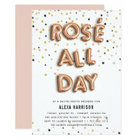 Ros� All Day Bachelorette Weekend Invitation