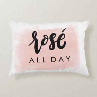 Rosé All Day Pillow