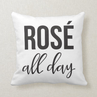 Rose all day Throw Pillow