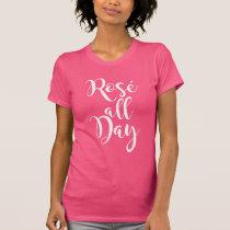 Rosé All Day | White Script T-Shirt