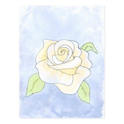 Rose amarilla clara postales