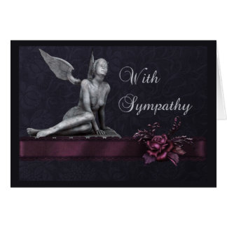 Rose and Angel Condolence Greeting Card