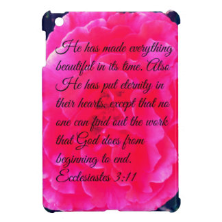 Rose and Bible Verse Iphone Case Case For The iPad Mini