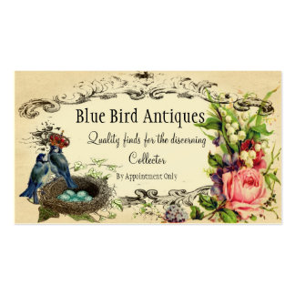 Rose and Blue Jay Buisness or Introduction Card Business Card Templates