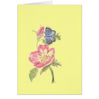 Rose and Butterfly card. Card