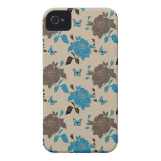Rose and butterfly patterns iPhone 4 Case-Mate case