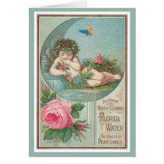 Rose and Cherub Florida Waters Card