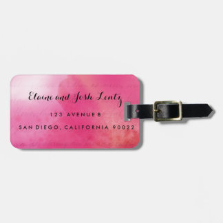 Rose and Cream Watercolor Luggage Tags