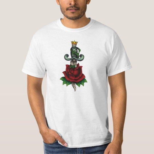 Rose and dagger - green T-Shirt