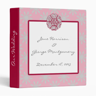 Rose and Dove Grey Wedding Planner Binder